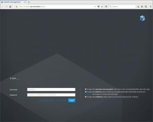 Mire d'authentification de l'interface d'administration Web