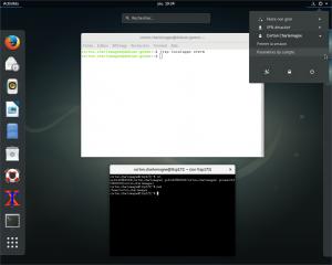 Session GNOME3 en LTSP avec un Xterm exécuté localement