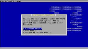OPNsense installation mode