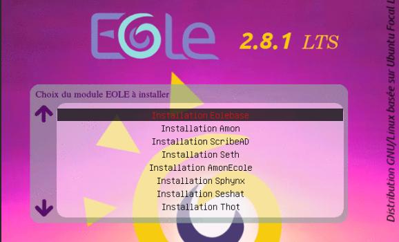 Publication de EOLE 2.8.1